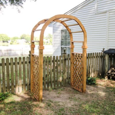how to build a garden arch