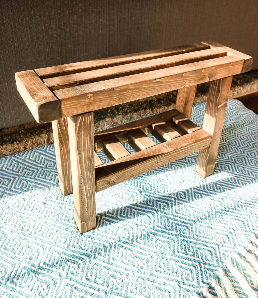 DIY Wooden Foot Rest - Charleston Crafted