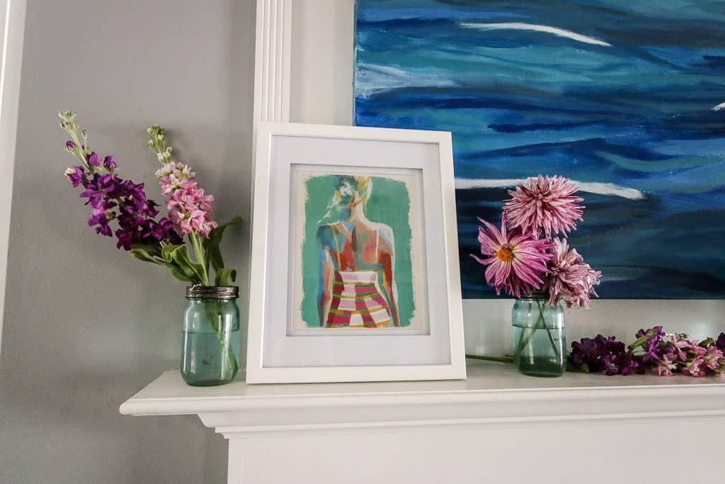 Summer Floral Mantle via Charleston Crafted