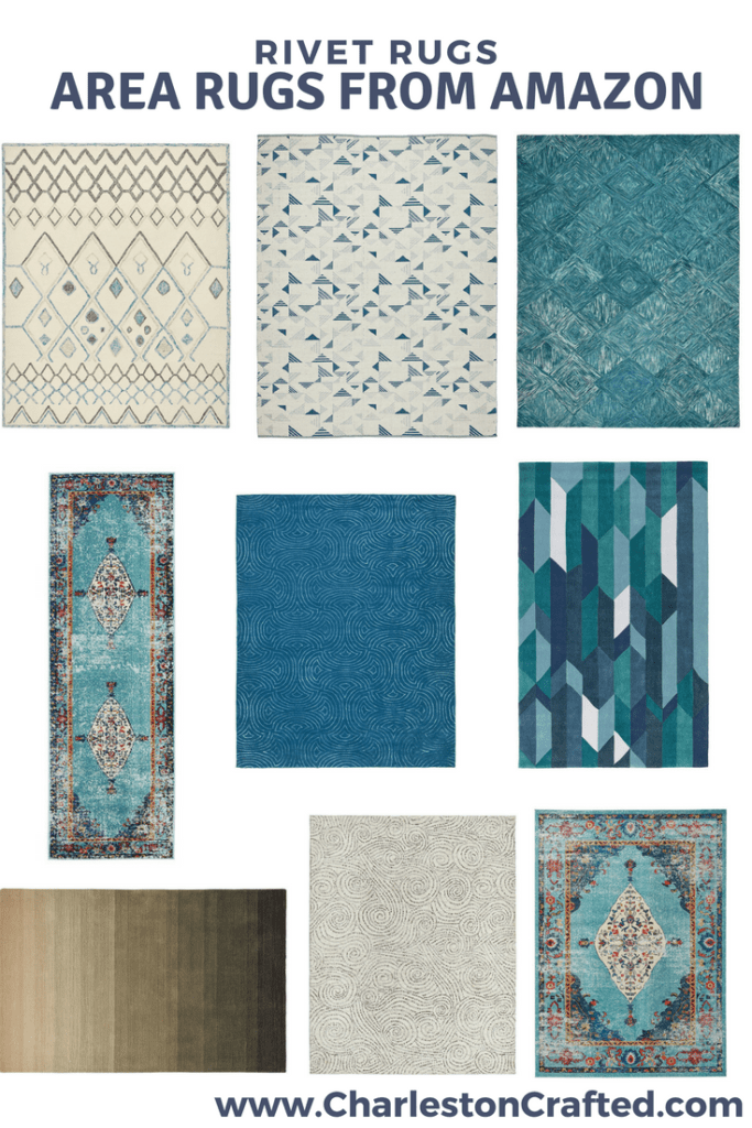 Rivet Rugs - Area Rugs from Amazon via Charleston Crafted