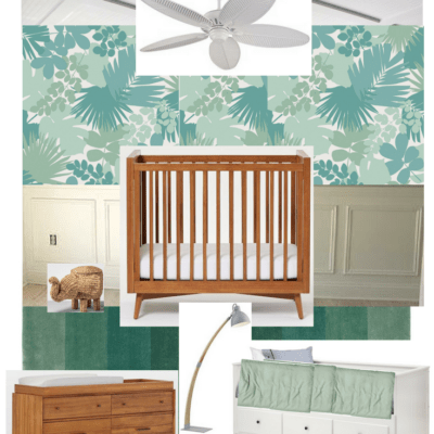 Tropical Nursery Mood Board