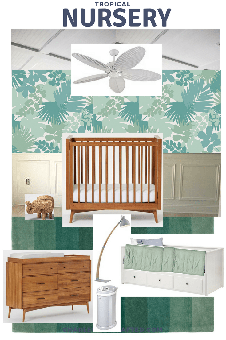 tropical nursery design via Charleston Crafted