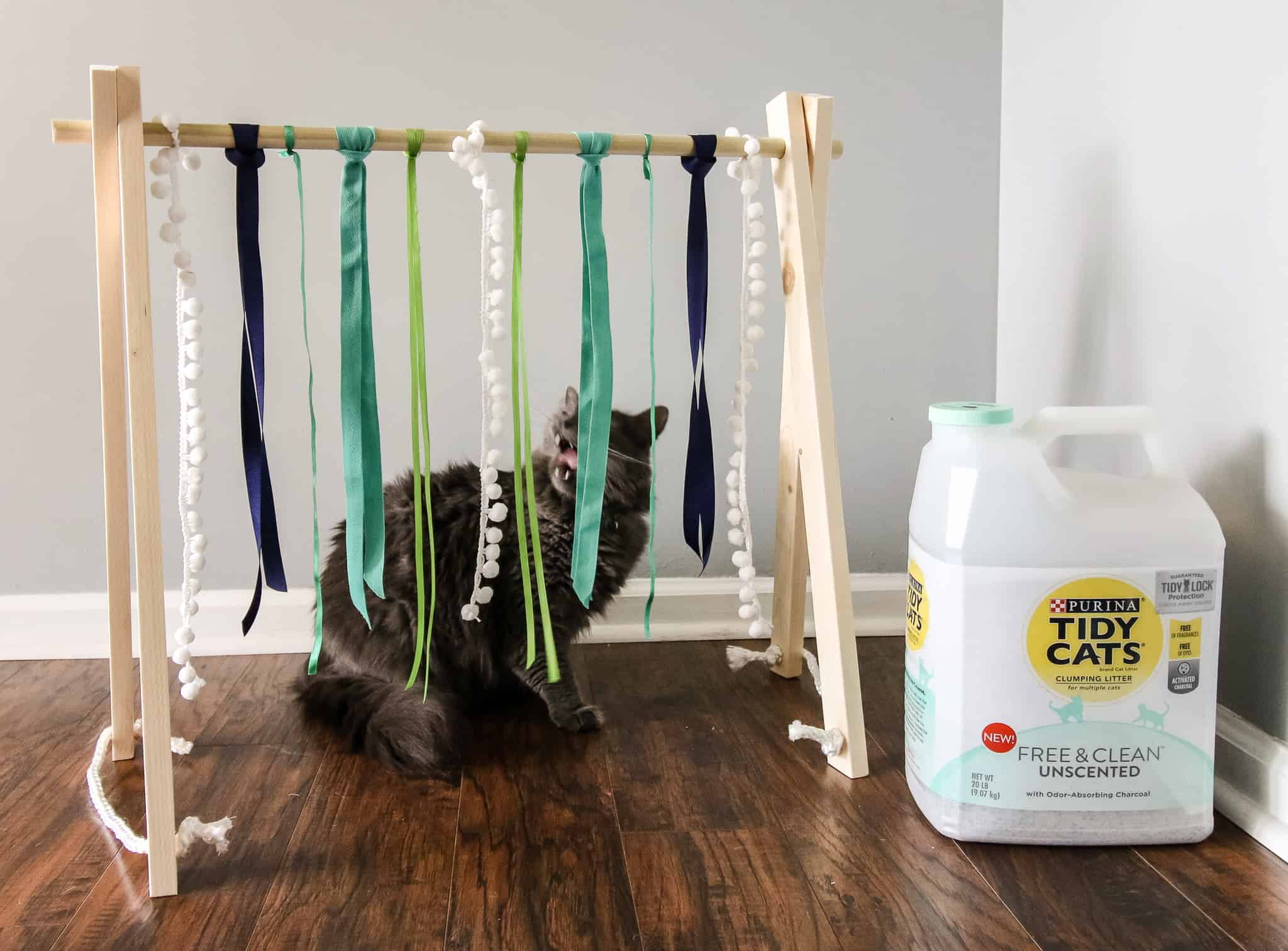DIY Cat Play Gym via Charleston Crafted