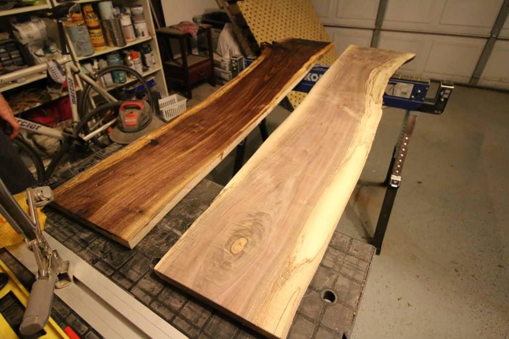 Live Edge Wood Shelves - Charleston Crafted