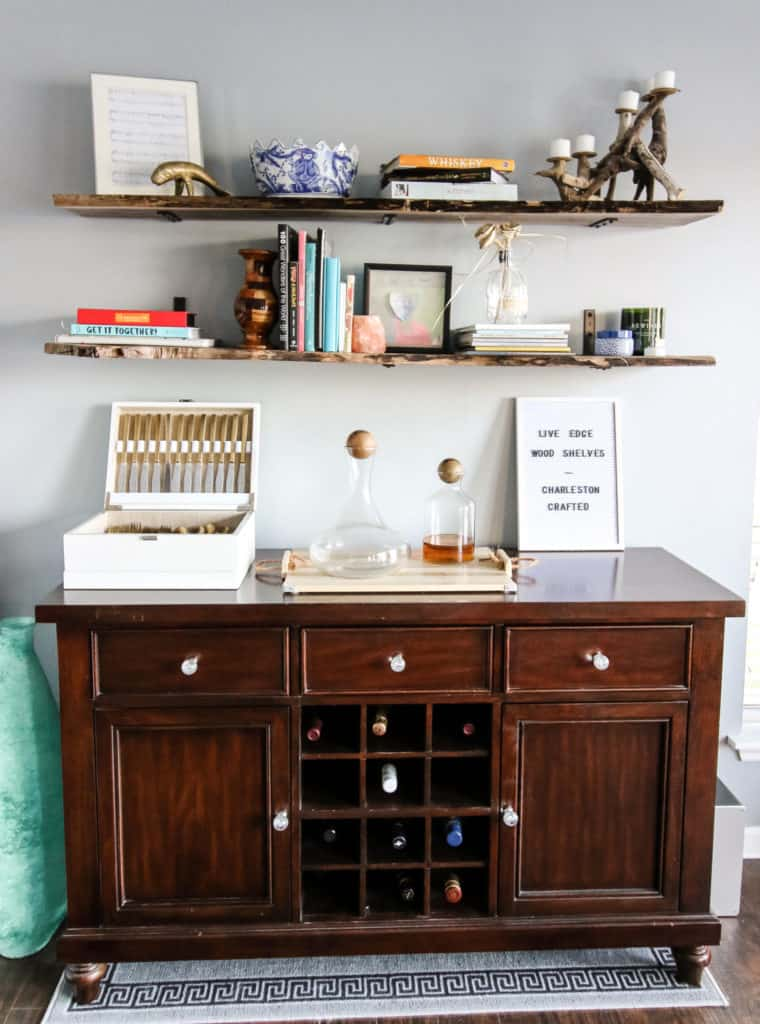 Live Edge Wood Shelves DIY via Charleston Crafted