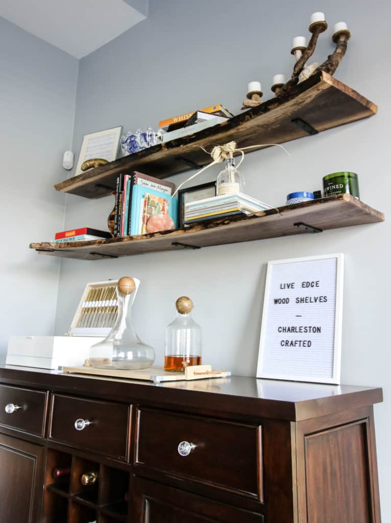 Live Edge Wood Shelves DIY via Charleston Crafted