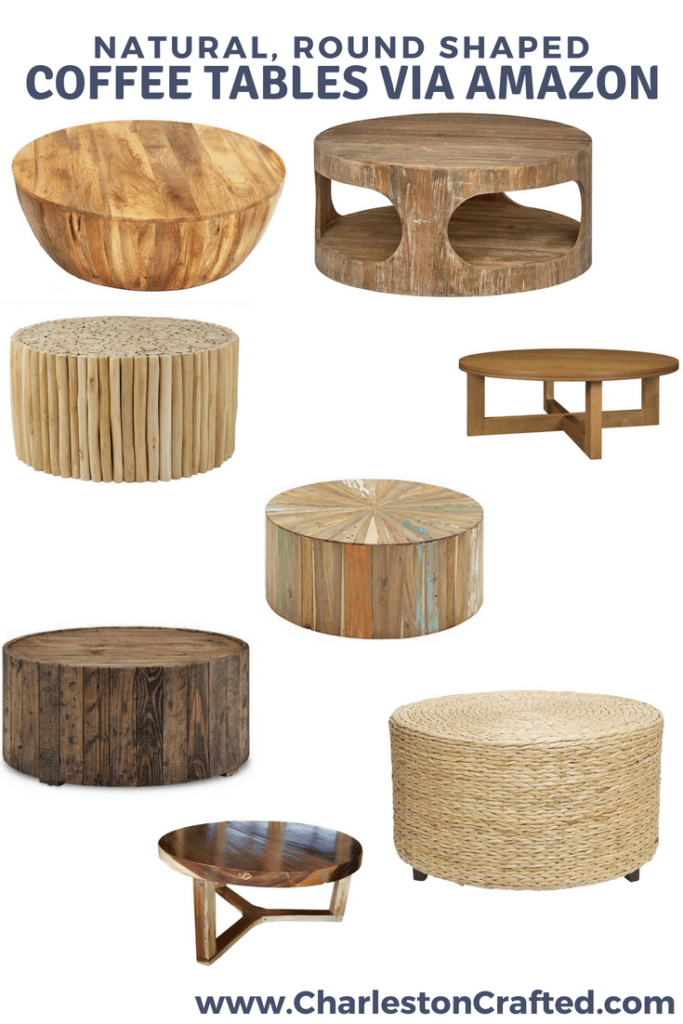 Round Coffee Table Inspiration via Charleston Crafted