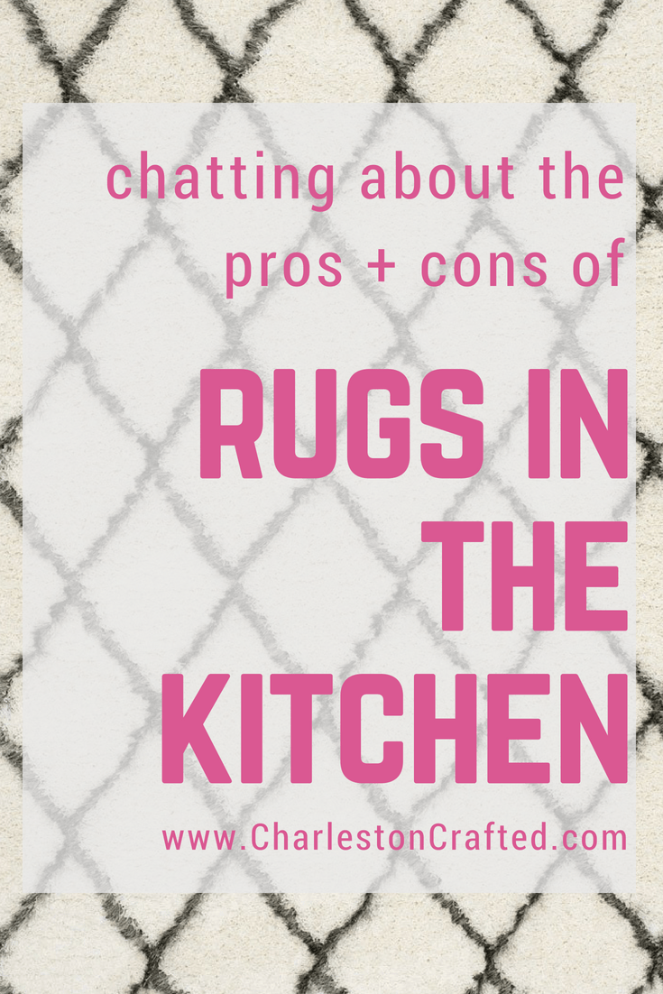 What do you think about rugs in the kitchen? via Charleston Crafted