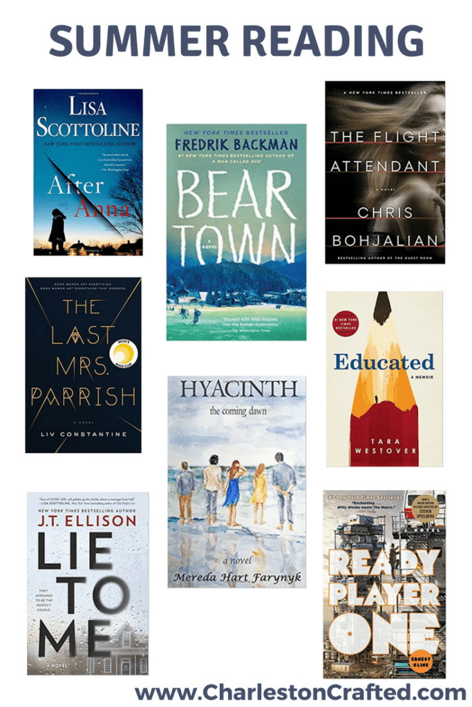 What We Are Reading This Summer via Charleston Crafted