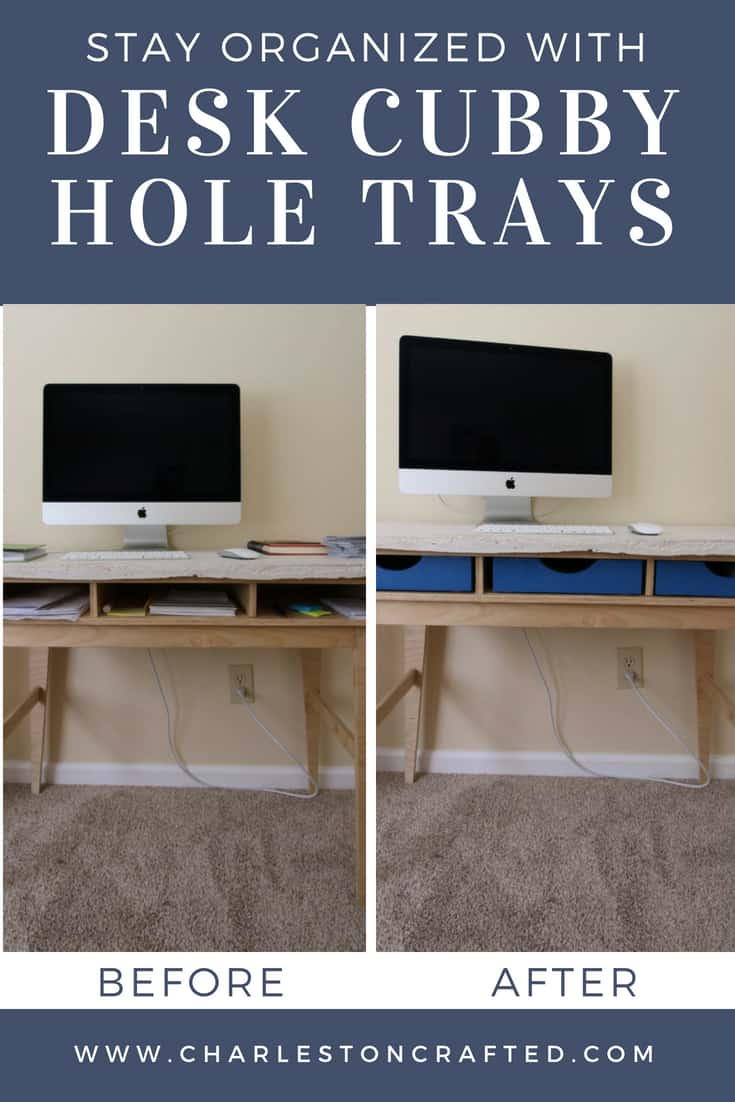 Desk Cubby Hole Wooden Trays Charleston Crafted