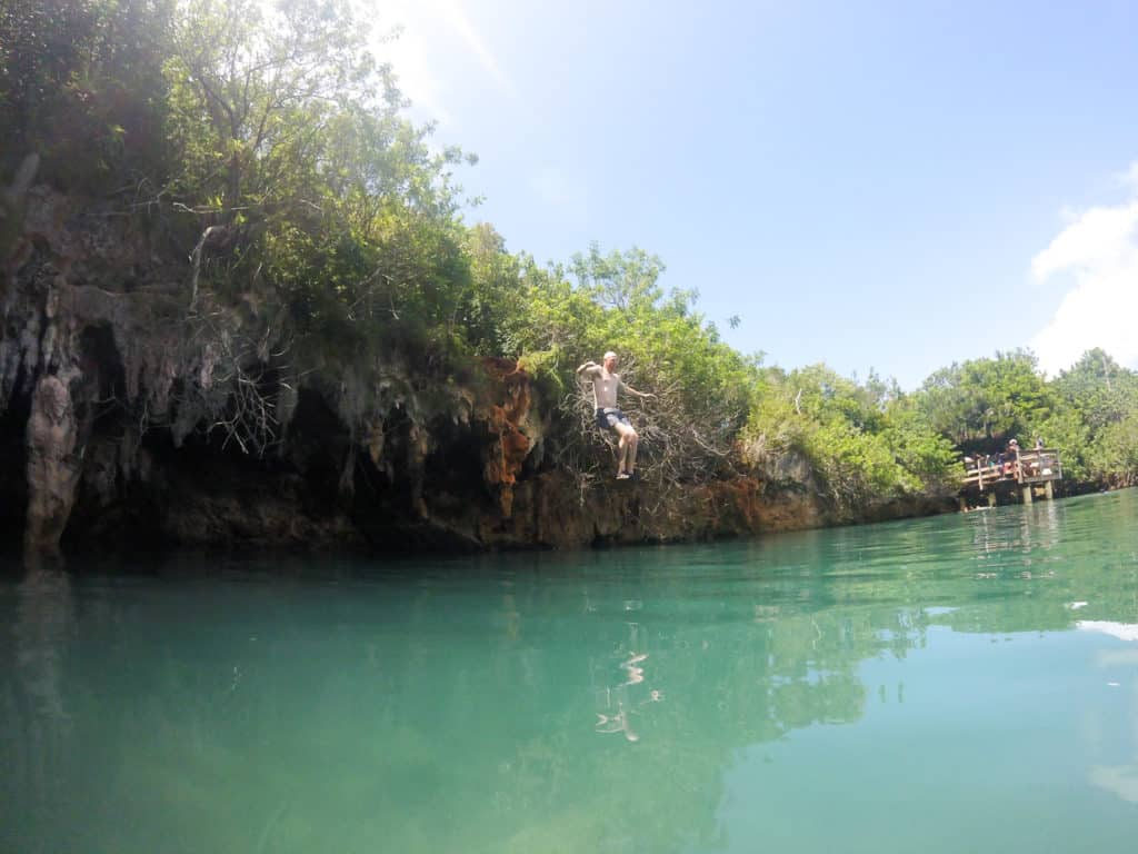 Cliff Jumping at The Blue Hole