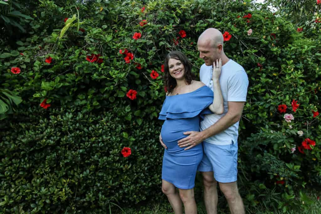 DIY Maternity Photo Garden