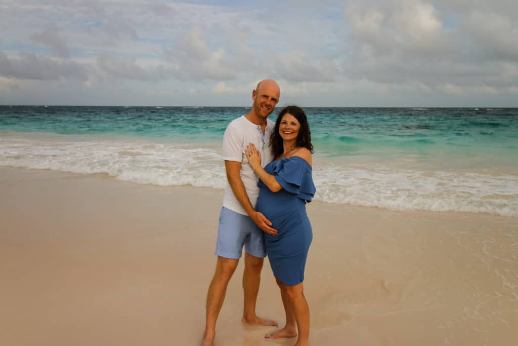DIY Maternity Photography Bermuda Beach