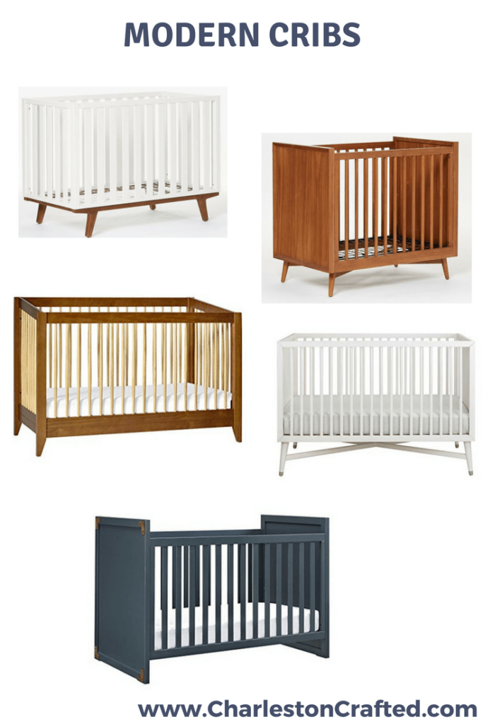 Modern Crib Inspiration via Charleston Crtafted