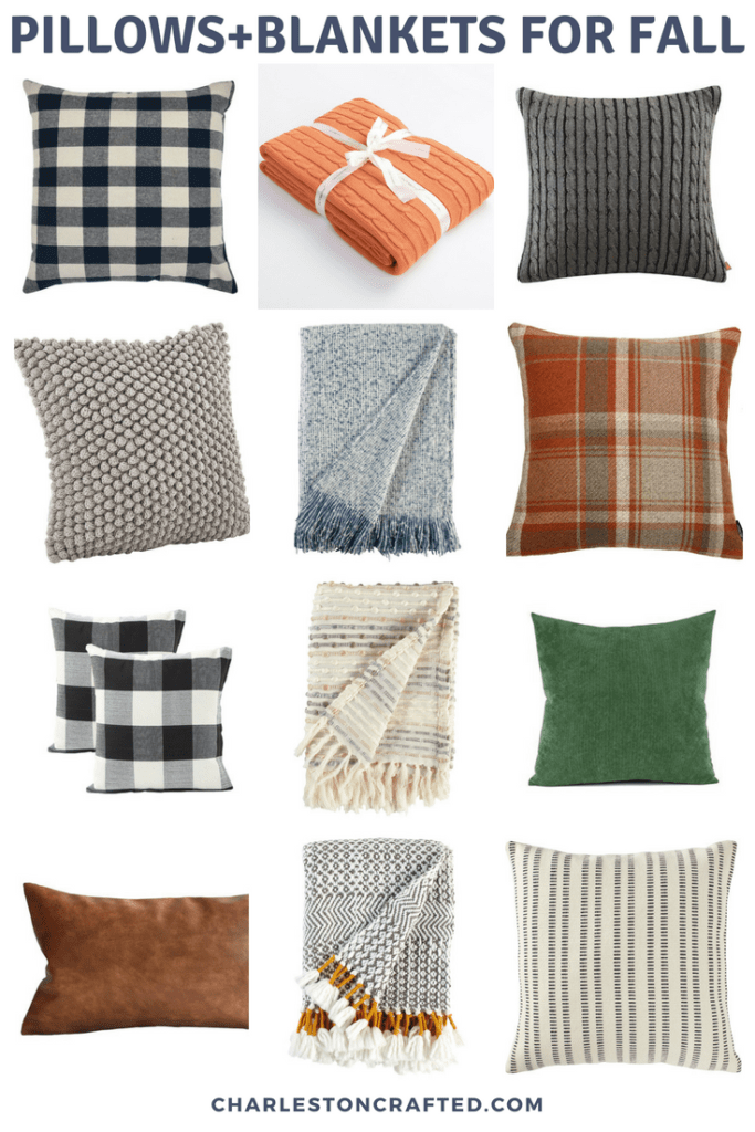 Cozy Pillow + Blanket Combinations for Fall