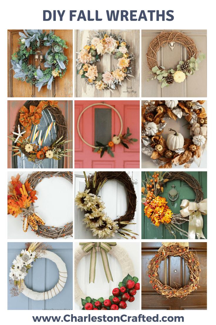 DIY Fall Wreaths via Charleston Crafted