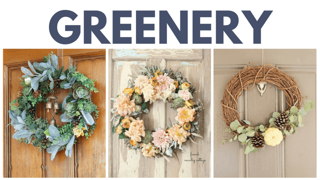 Fall Wreaths with Greenery