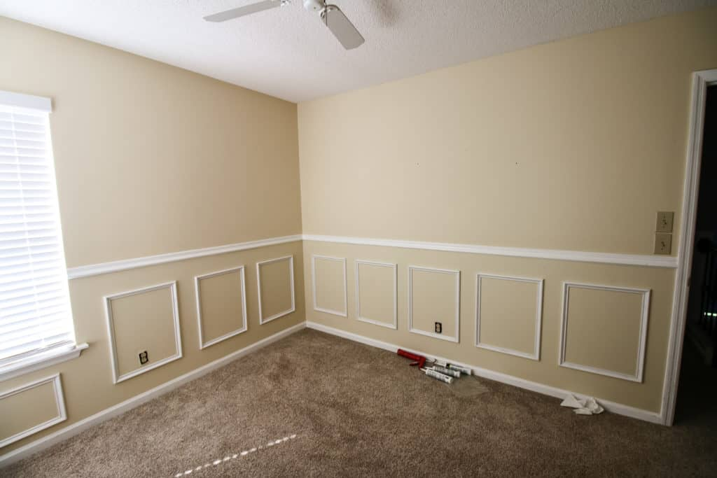 Full room of wainscoting