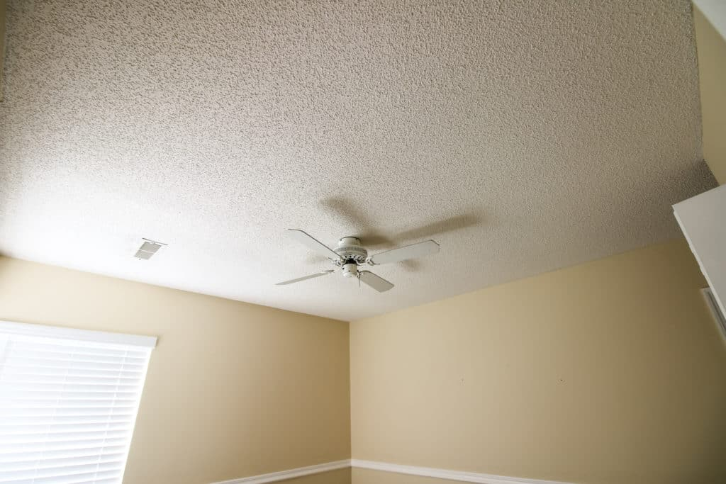 Before photo of ceiling