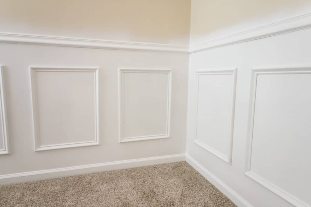 Finished wainscoting