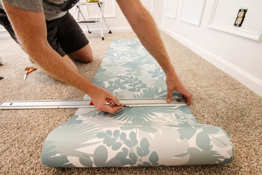measure and cut peel and stick wallpaper