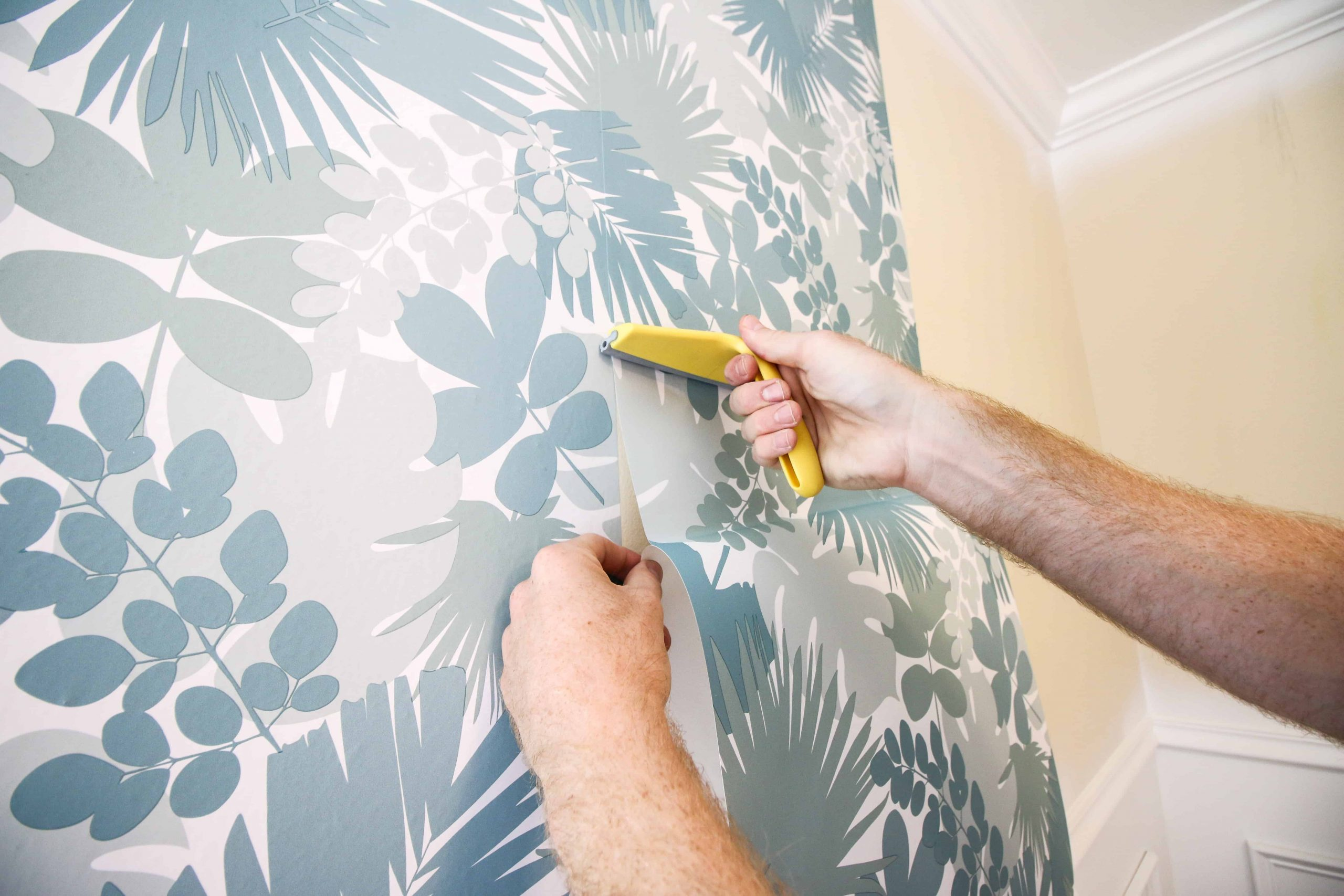 How to Hang Peel & Stick Wallpaper via Charleston Crafted