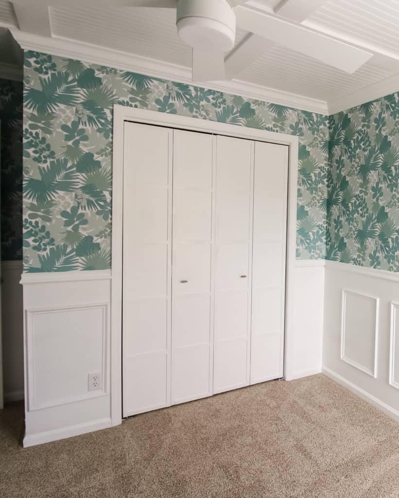 Bi-fold closet door makeover