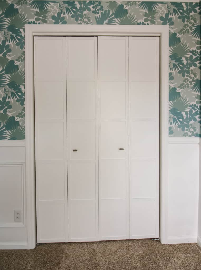 Bi-fold Closet Door Makeover via Charleston Crafted