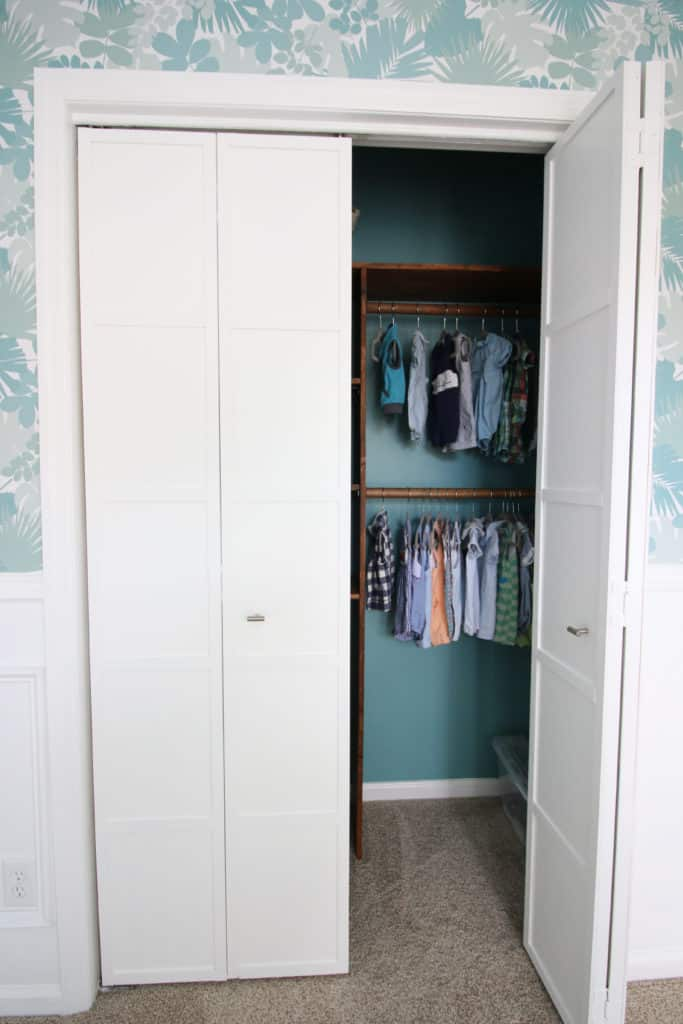 Nursery Closet System and Bi-Fold Doors via Charleston Crafted