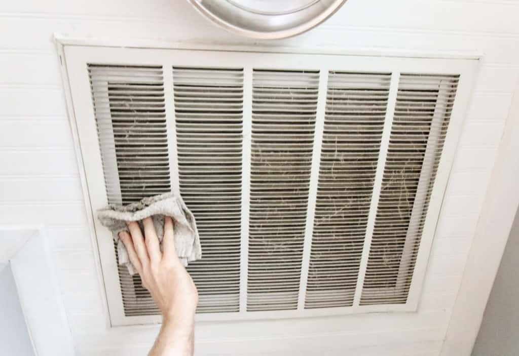Ways to reduce allergens in your home via Charleston Crafted by cleaning air vents