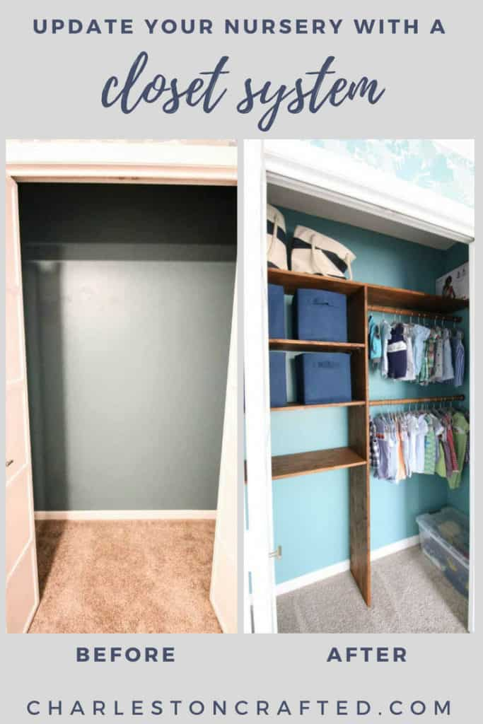 Nursery Closet System via Charleston Crafted Before and After