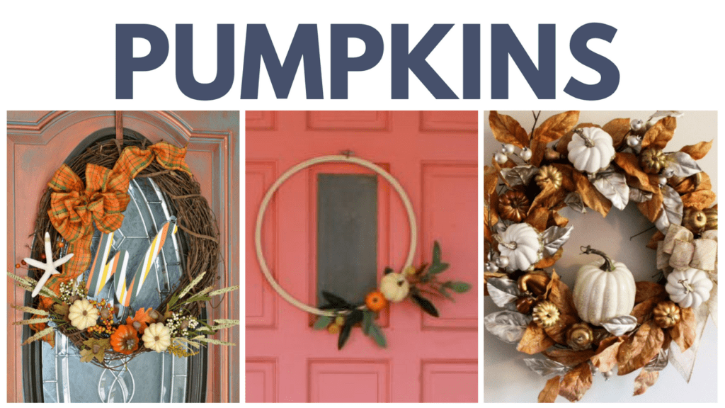 Fall Wreaths with Pumpkins