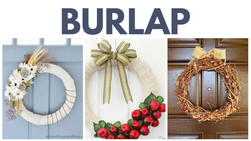 Burlap Fall Wreaths