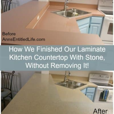 Guest Post: How To Finish Laminate Kitchen Counter Top With Stone