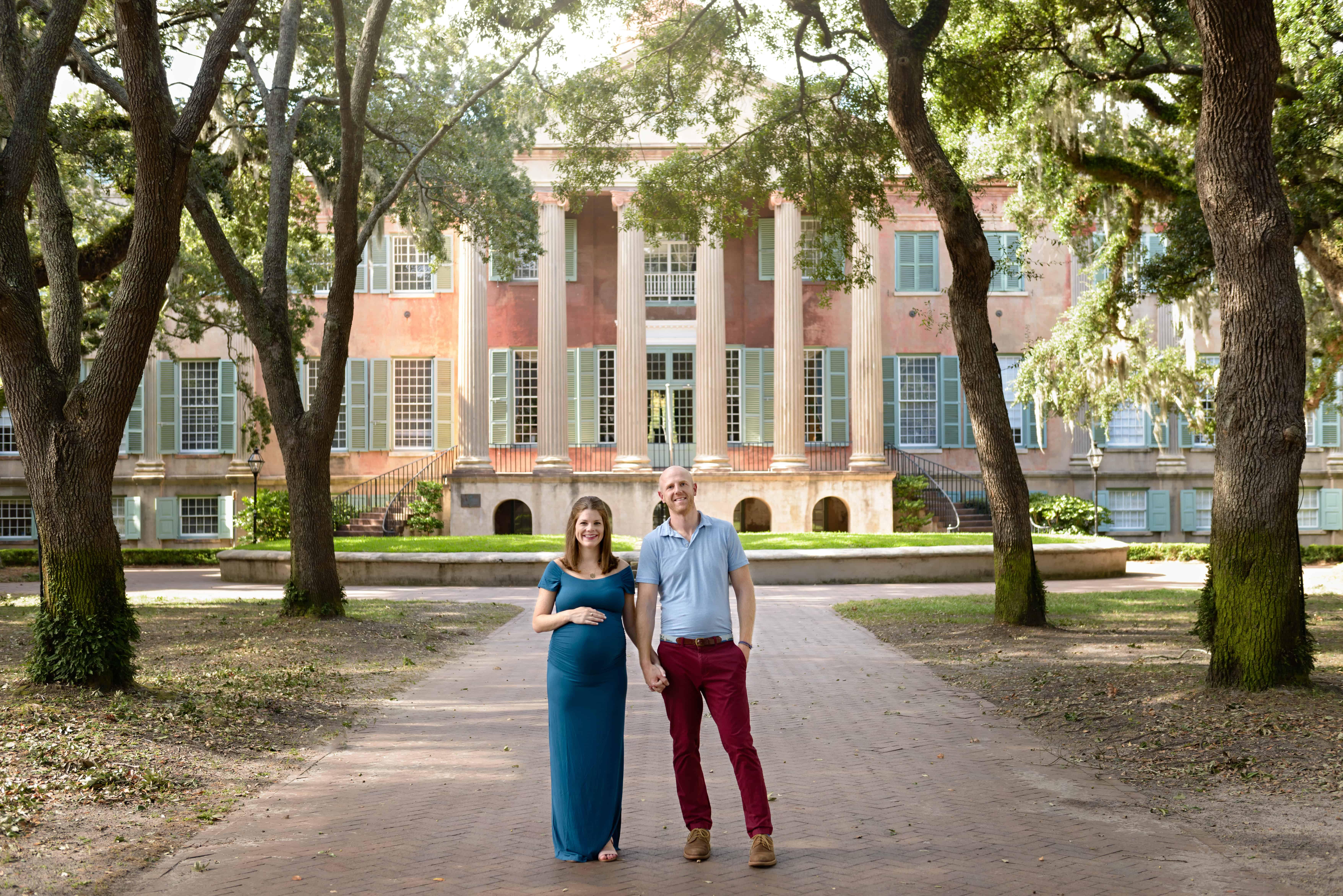 Maternity Photos College of Charleston