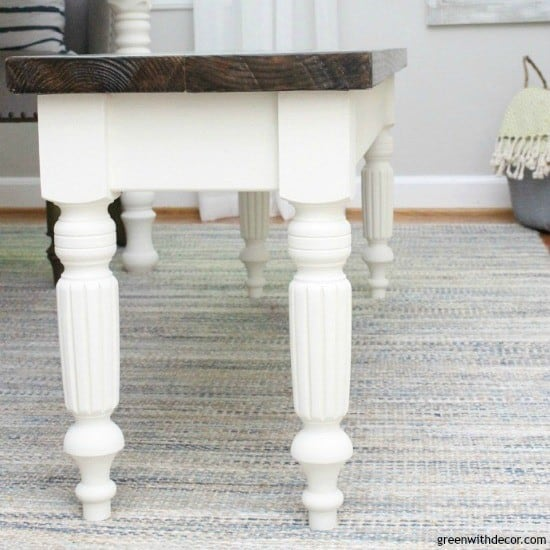 DIY Farmhouse Bench