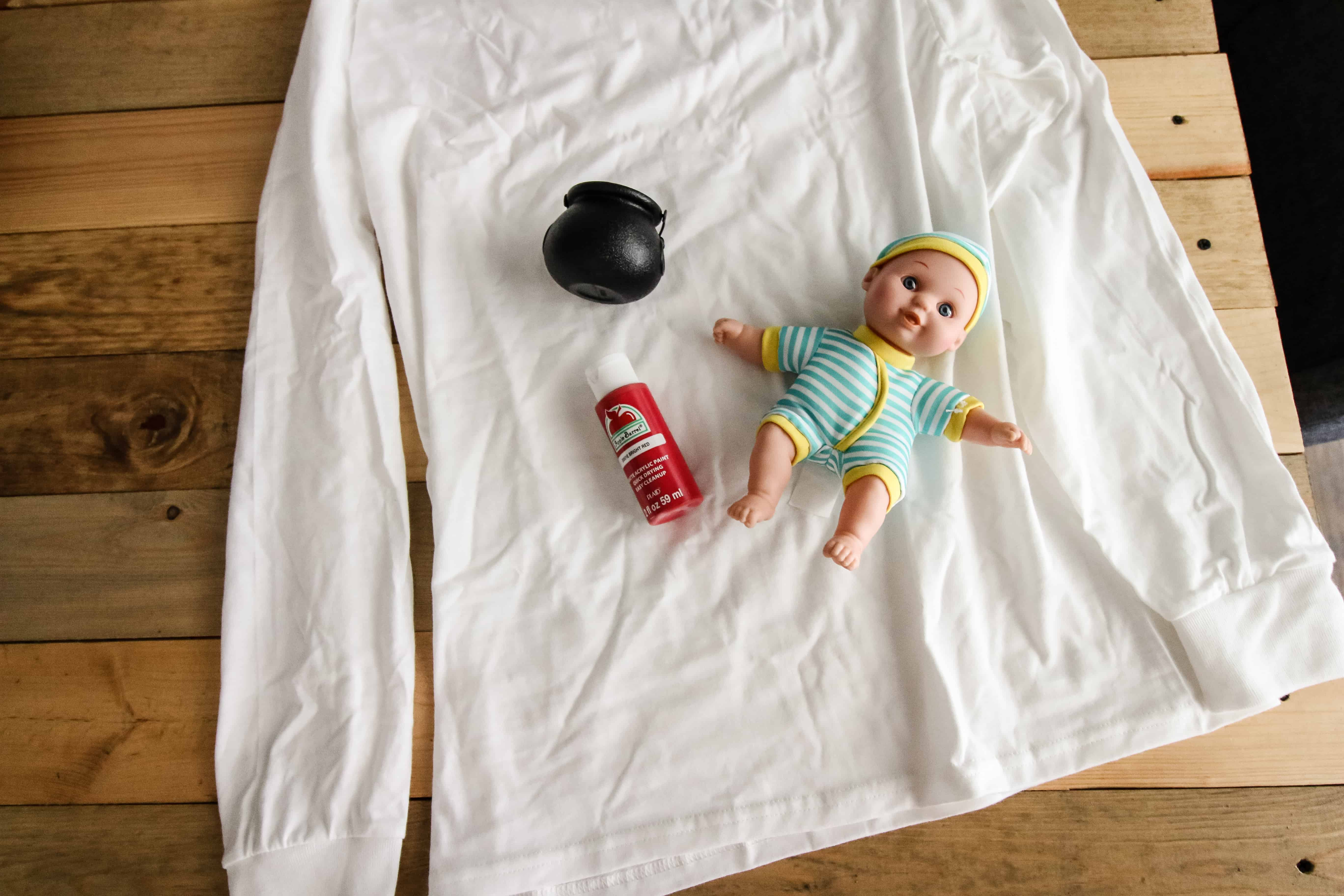 How to make a DIY Escaping Zombie Baby Pregnancy Halloween Costume