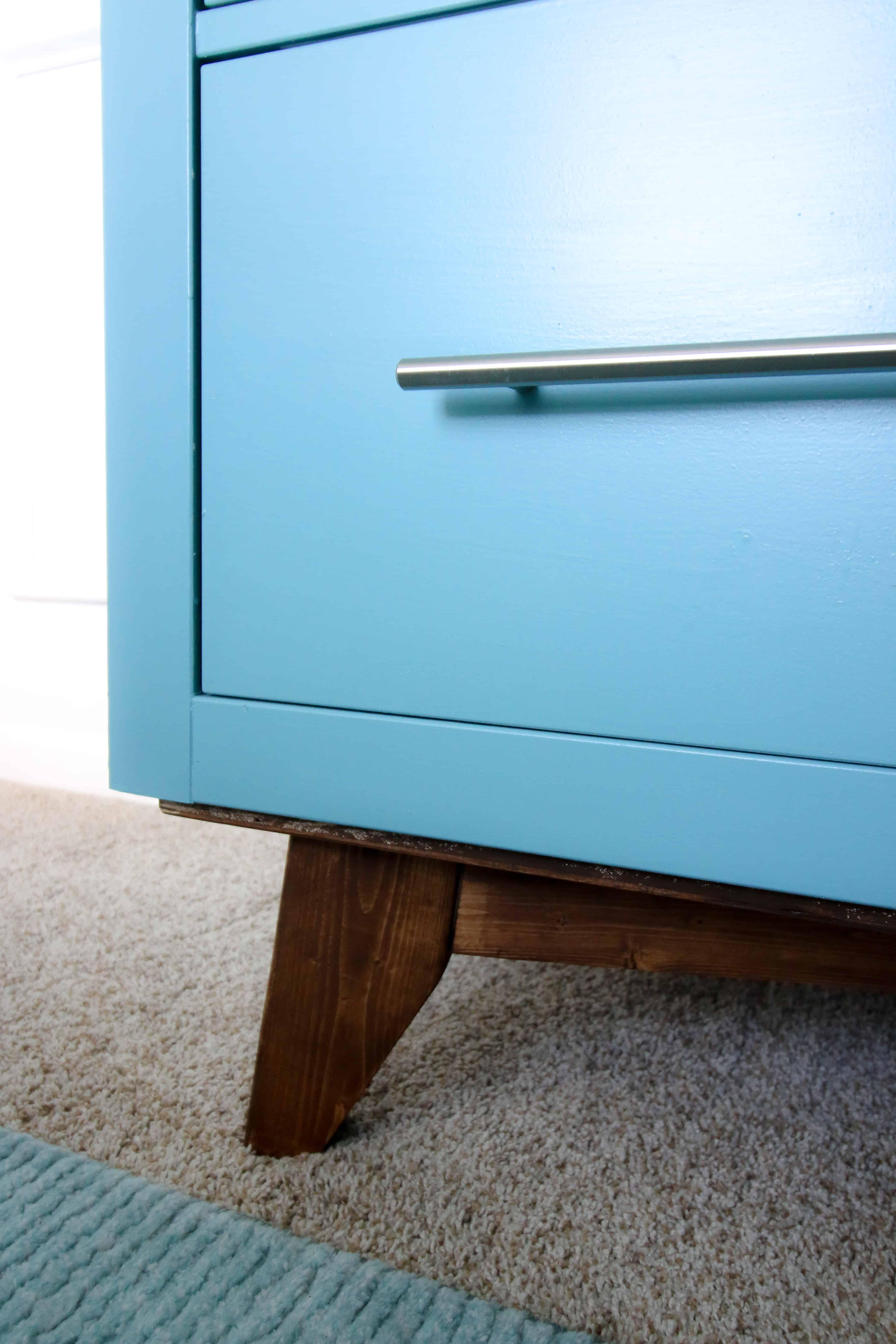 IKEA Hemnes Dresser Mid Century Modern Hack - MCM legs from 2x4s