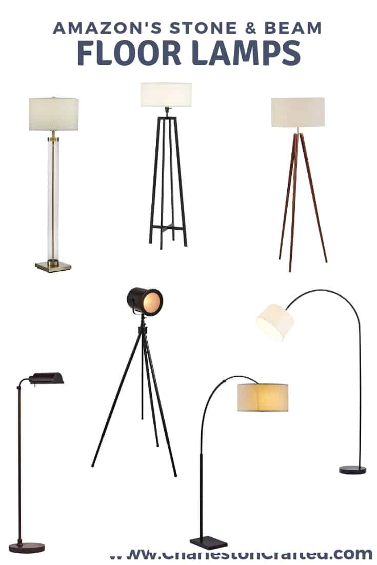 Stone & Beam Floor Lamps via Charleston Crafted