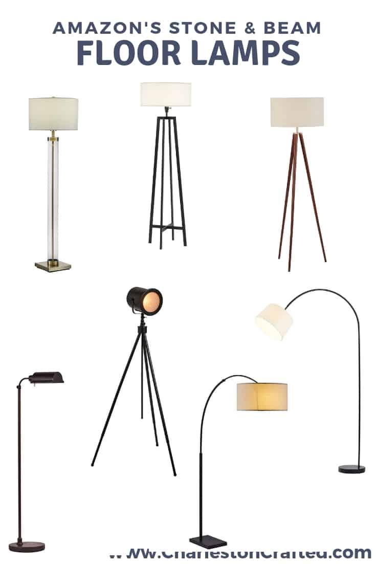 Stone & Beam Floor Lamps via Charleston Crafted
