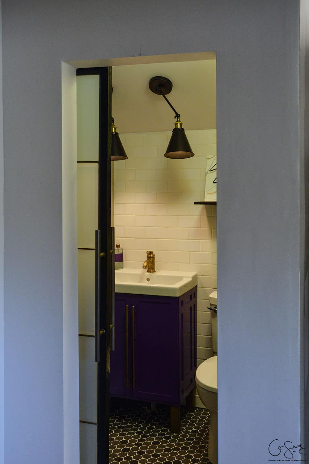 barn door bathroom