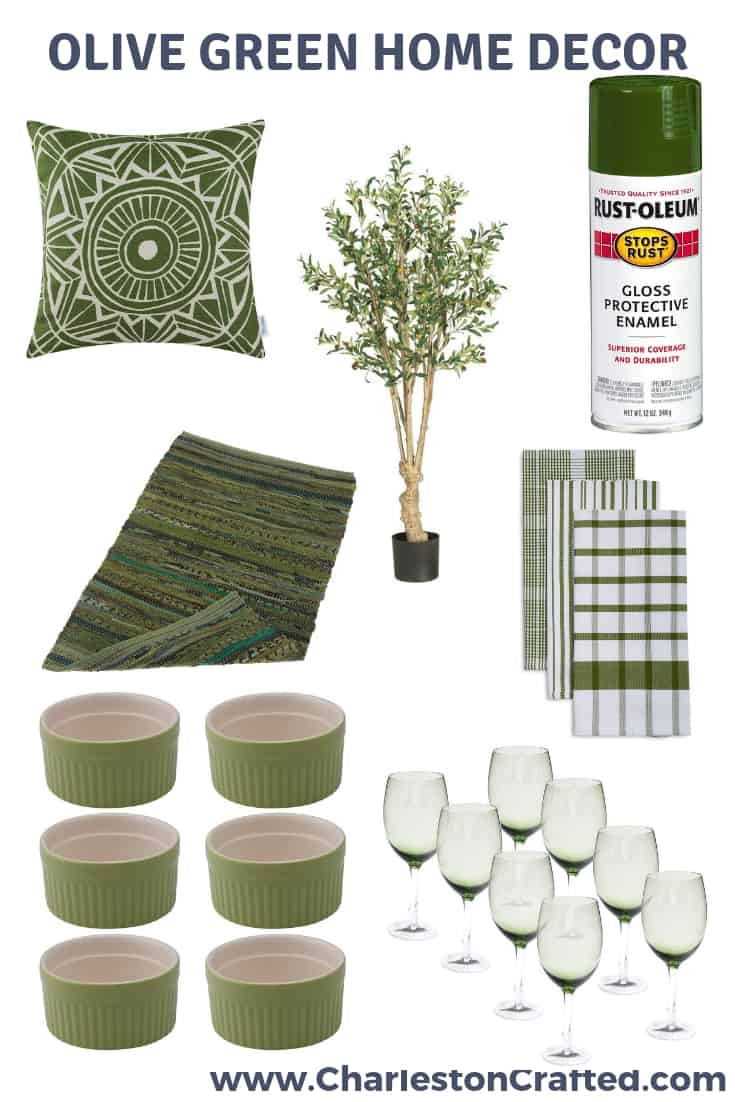 Olive Green Home Decor via Charleston Crafted