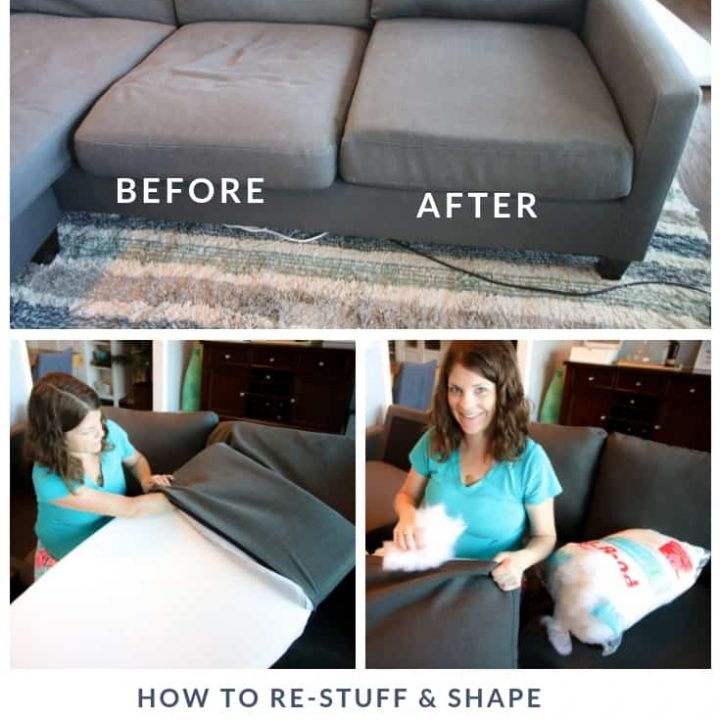 How to stuff sofa cushions & give new life to a saggy couch!