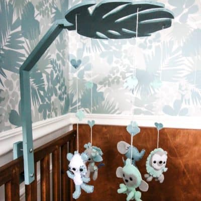 How to Make a Felt Jungle Baby Mobile
