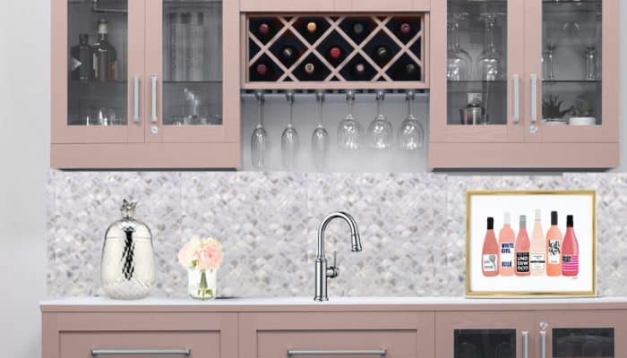 A Rosé Wine Inspired Wet Bar