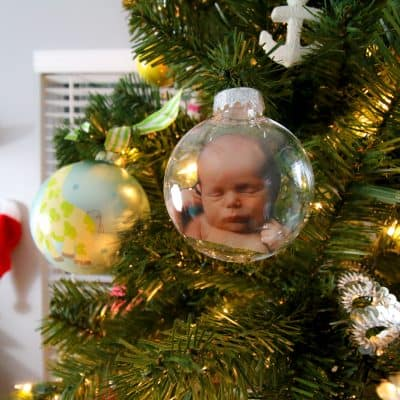 DIY Photo Christmas Ornament