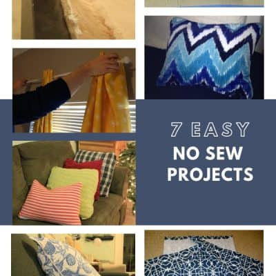 7 Easy DIY No Sew Project Ideas