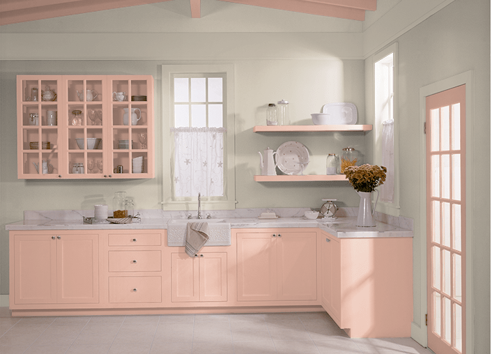 pink abalone kitchen