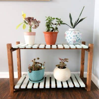 Slatted Plant Stand - Charleston Crafted