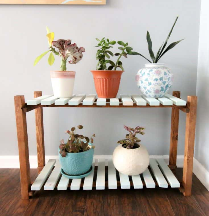 Slatted Plant Stand